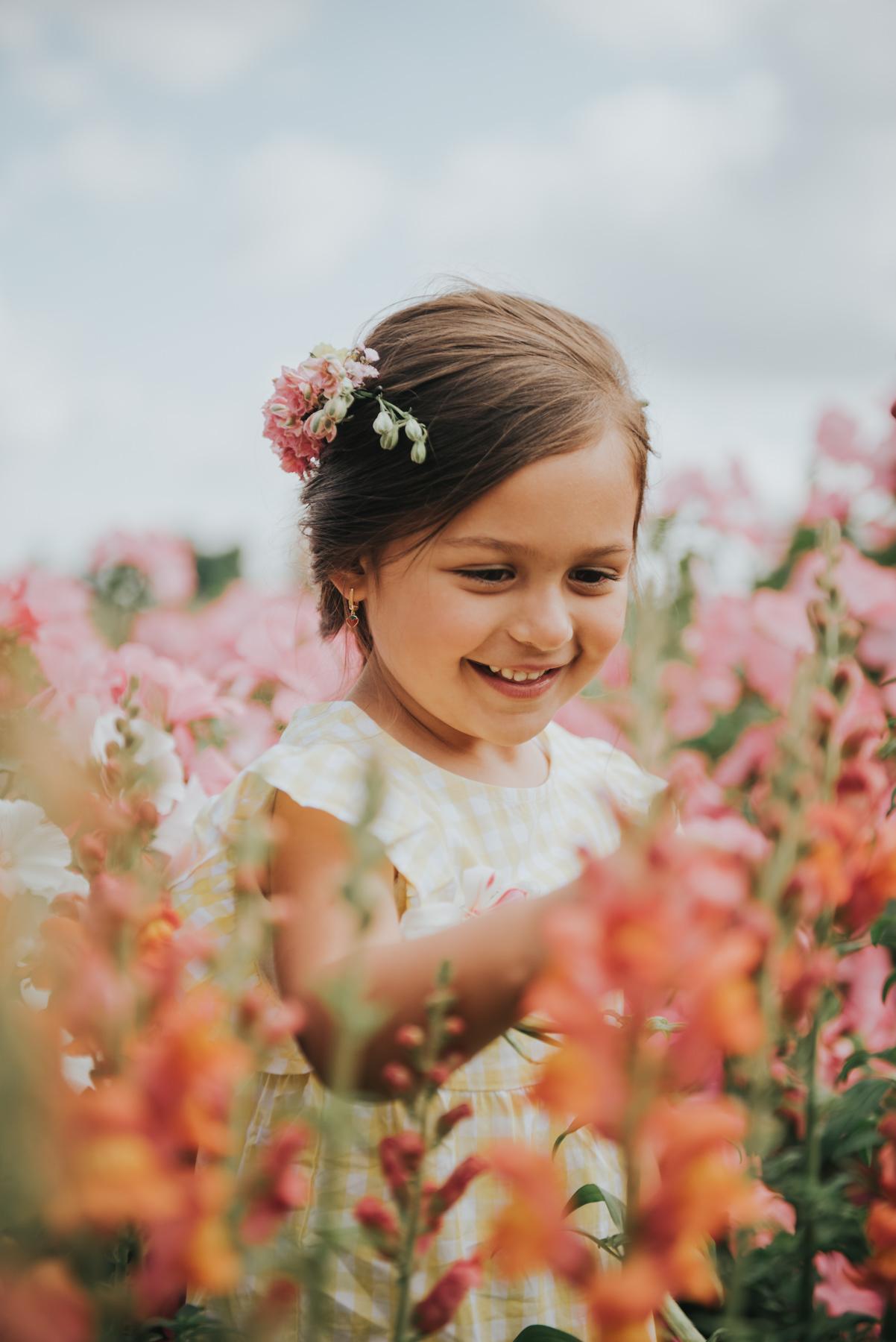 Een kleurrijke shoot tussen de mooiste bloemen